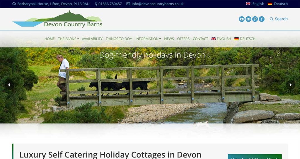 Devon Country Barns Website by XLR8 Marketing