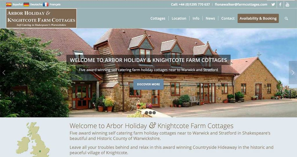 Arbor Holiday & Knightcote Cottages Testimonial