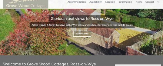 New Website for Luxury Holiday Home Grove Wood Cottages