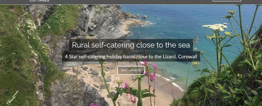New, Modern Mobile Friendly Website for Higher Carthew Farm Cottages