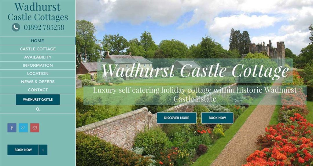 Wadhurst Castle Cottages Website by XLR8 Marketing