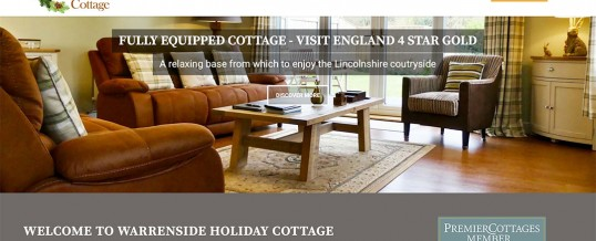 An engaging website for new Premier Cottages member Warrenside Holiday Cottage