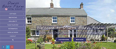 A fresh, modern, appealing website for Premier Cottages Member – Downs Barn Farm
