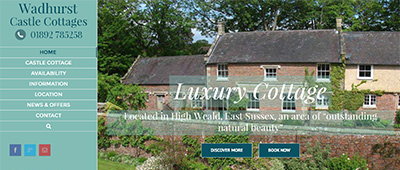 New mobile friendly, responsive website for Wadhurst Castle Cottages